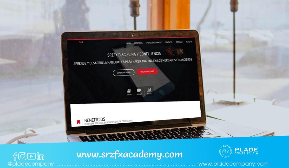 Aplicación Web SRZFX Academy